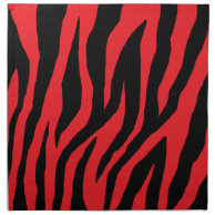Pink Mod Zebra Print Napkin on Zazzle