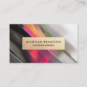 Modern Abstract Interior Designer Business Cards
