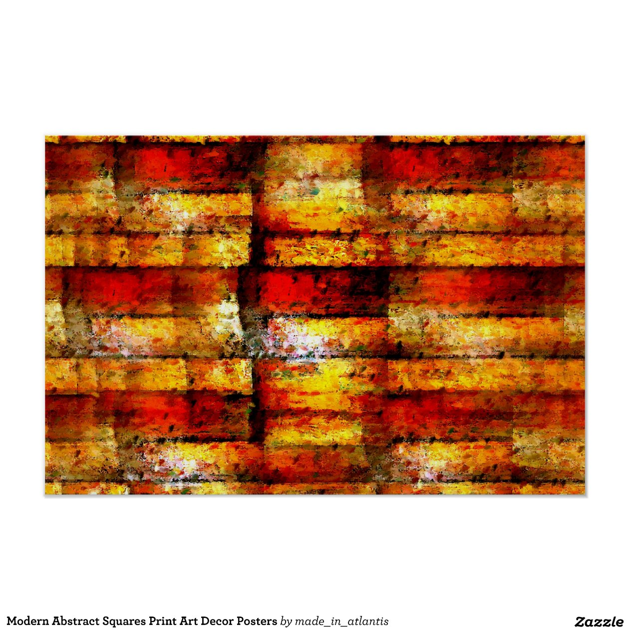 Modern Abstract Squares Print Art Decor Posters