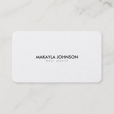 Modern and Minimal Metallic Gold Hair Stylist Appointment Card