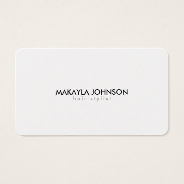 Modern and Minimal Metallic Gold Hair Stylist Business Card