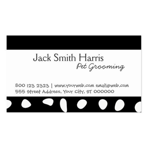 Modern Animal Pet Groomer Black and White Spots Business
