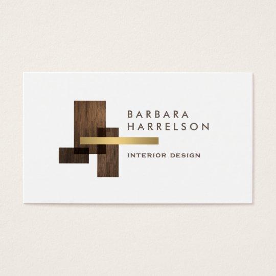 Modern Architectural Interior Design Logo Business Card Zazzle Com