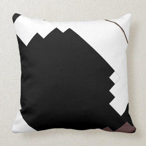 Modern Black & White Pillow