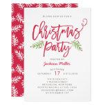 Modern Brush Script Christmas Holiday Party Invitation