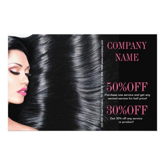 Modern Chic Beauty Salon Hair Stylist Flyer Zazzle Com
