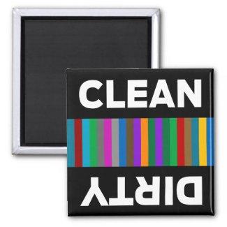 Modern Clean or Dirty Dishwasher Magnet