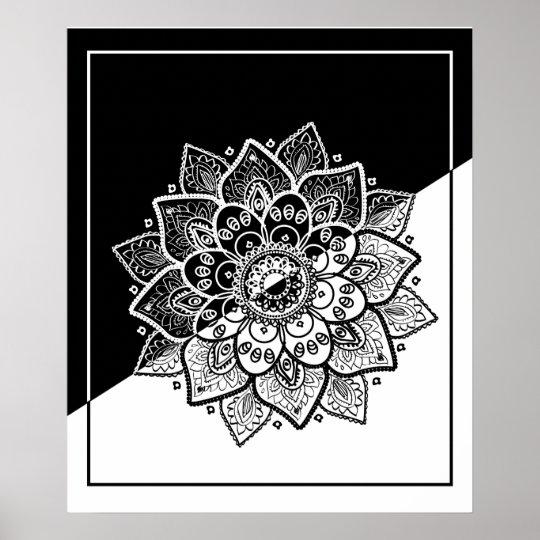 modern geometric black white