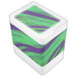 Modern Green Blue Color Swish Cooler