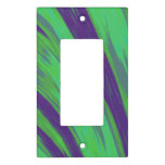 Modern Green Blue Color Swish Light Switch Plate