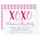 Modern Hugs & Kisses (XOXO) Valentine's Day Party Invitation