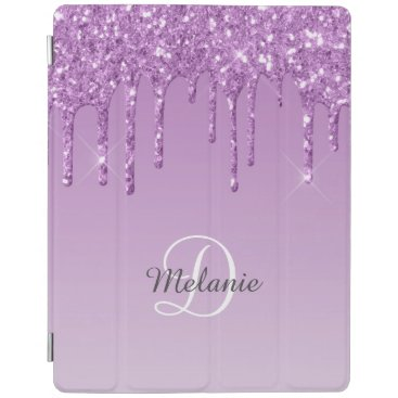 Modern Personalized Light Purple Sparkle Glitter iPad Smart Cover