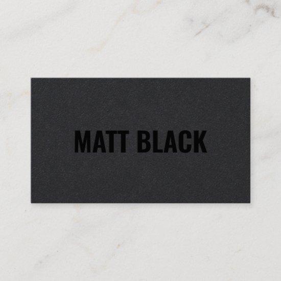 Modern professional black kraft simple elegant business card