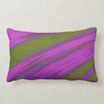 Modern Purple and Green Color Swish abstract Lumbar Pillow