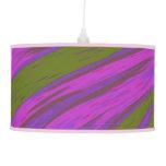 Modern Purple Green Color Swish Ceiling Lamp