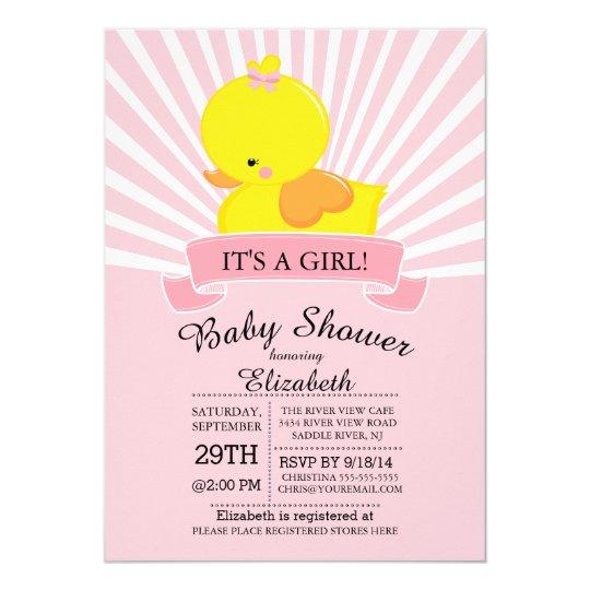 Modern Rubber Duck S Baby Shower Invitation