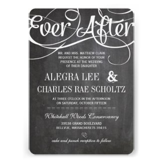 Modern Typography Chalkboard Ever After Chalkboard Announcement