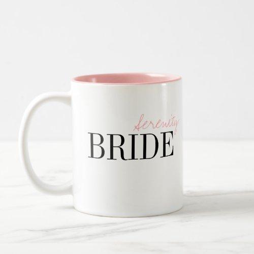 Modern Typography Simple Personalized Bride Mug