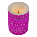 Modern Vibrant Pink Abstract Pattern Flameless Candle