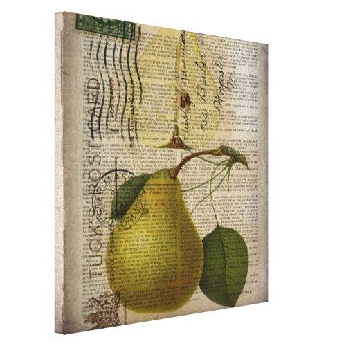 modern Vintage Botanical Print fruit pear