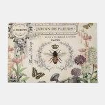 ❤️ Modern Vintage French Bee garden Doormat