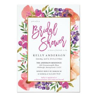 Modern Watercolor Fl Bridal Shower Invitation