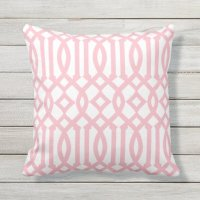 Modern White and Light Pink Imperial Trellis Outdoor ...