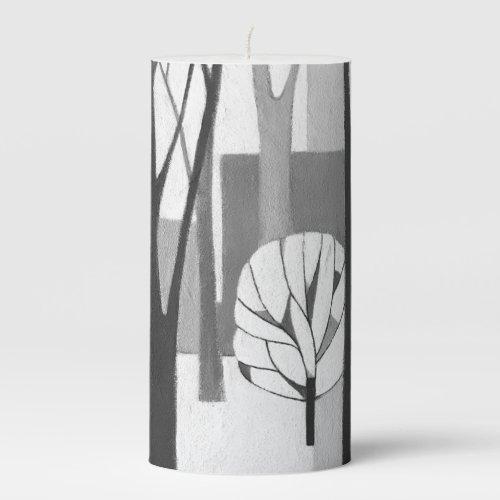 Modernist Urban Winter Candle