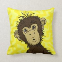 Chimpanzee Pillows - Decorative & Throw Pillows | Zazzle