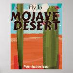 Mojave Desert USA Vintage travel poster. Poster