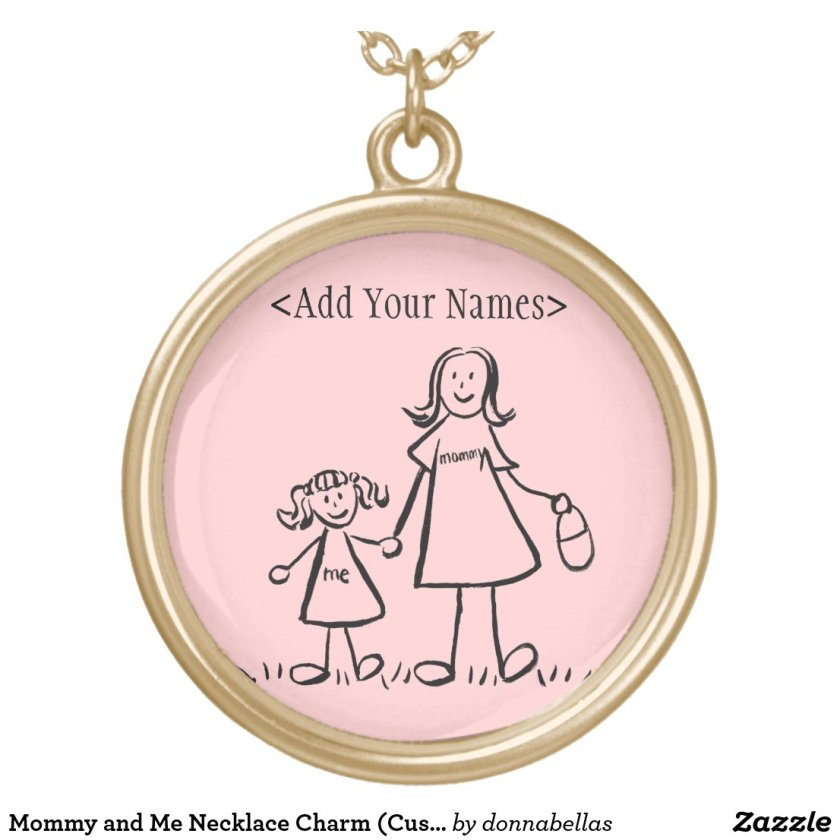 Mommy and Me Necklace Charm (Customize Names)