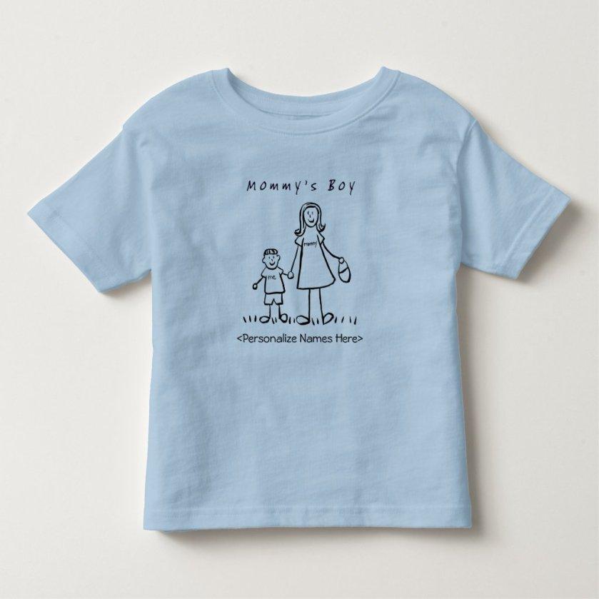 Mommy's Little Boy - Mother & Son Custom T-Shirt