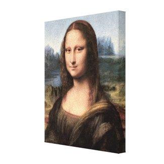 Mona Lisa Portrait / Painting Canvas Print