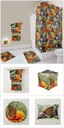 Monarch Butterfly Bedroom and Bath