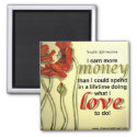 Money Affirmation Magnet