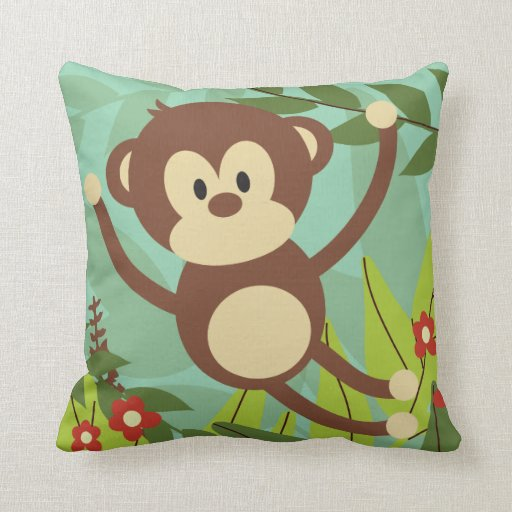 Monkey Business 16 x 16 Pillow Pillows  Zazzle
