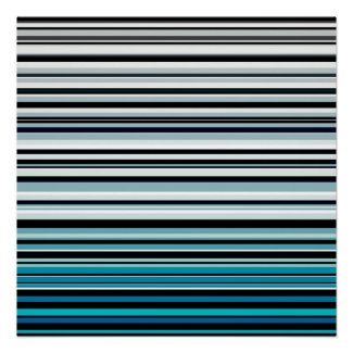 Monochromatic and blue accented horizontal lines