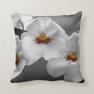 Monochrome Orchids American MoJo Pillow