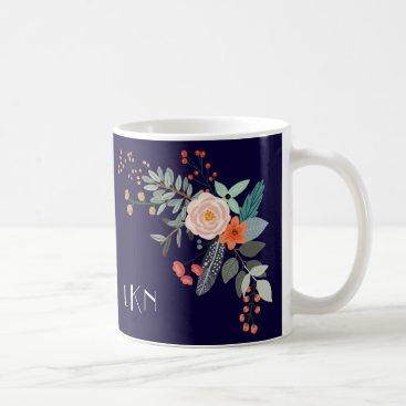 Monogram Botanical Coffee Mug