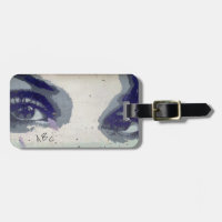 Monogram Eyes Open Bag Tag