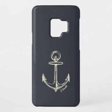 Monogram. Nautical. Anchor. Case-Mate Samsung Galaxy S9 Case