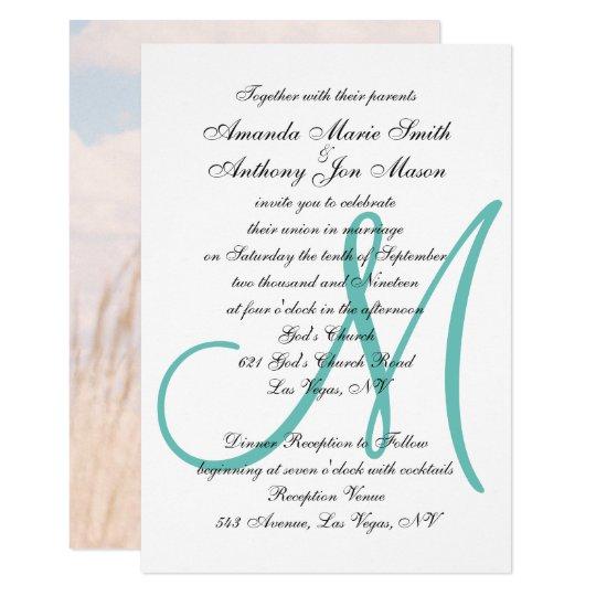 Upload Your Photo Wedding Invitation