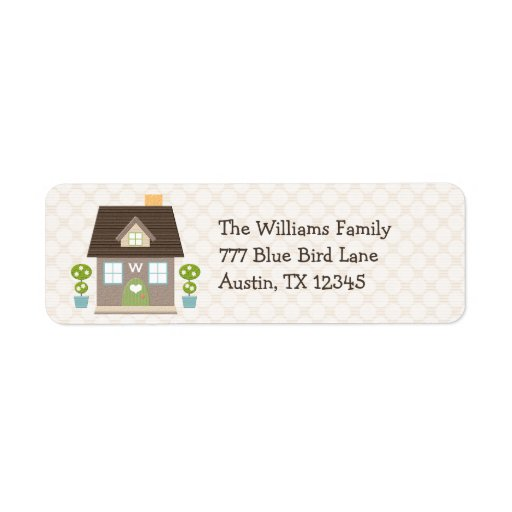 Monogrammed House Return Address Labels