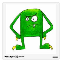 Green Monster Wall Decals & Wall Stickers | Zazzle