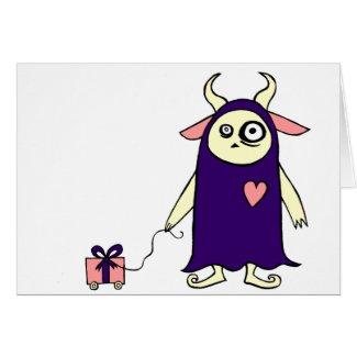Monster Present card