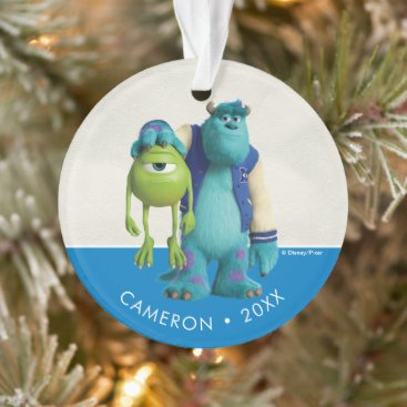 Monsters Inc.   Sulley Holding Mike Ornament