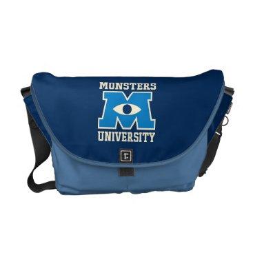 Monsters University Blue Logo Messenger Bag