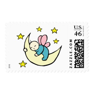 Moon Baby Asleep stamp