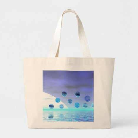 Moonlight Wonder, Abstract Journey to the Unknown Large Tote Bag