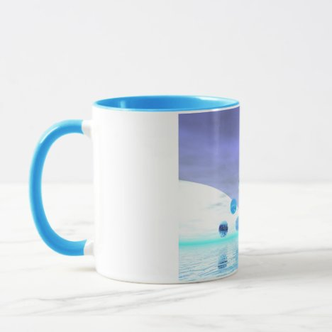 Moonlight Wonder, Abstract Journey to the Unknown Mug
